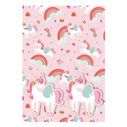 Unicorn Wrapping Paper - 2 Sheets 2 Tags