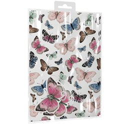 Butterflies 2 Sheets of Wrapping Paper & Tags