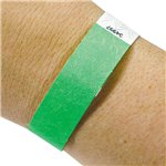 Lime Green Paper Wristbands