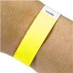 Neon Yellow Paper Wristbands