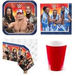 WWE Wrestling Party Pack - Value Pack For 8