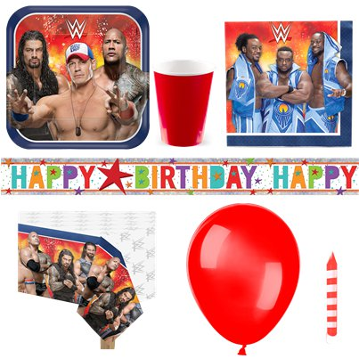 WWE Wrestling Party Pack - Deluxe Pack for 8