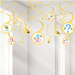 What Will It Be Hanging Swirl Decorations