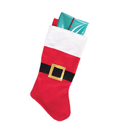Santa Belt Stocking - 46cm