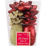 Red/Gold Bow & Ribbon Christmas Pack
