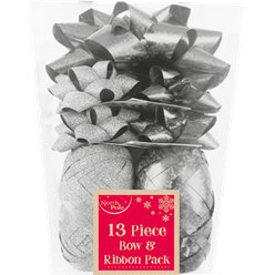 Silver Bow & Ribbon Christmas Pack