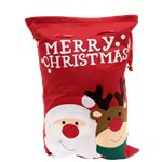 Luxury Santa & Reindeer Christmas Sack - 68cm