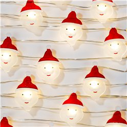 Botanical Santa LED Wire Lights - 3m