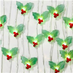Botanical Christmas Holly String - 3m