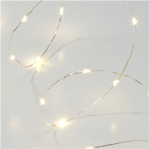 Party Porcelain Gold LED Lights - 3m