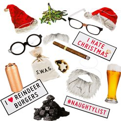 Bad Santa Photo Booth Kit