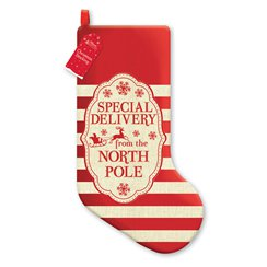 Special Delivery Striped Stocking - 48cm