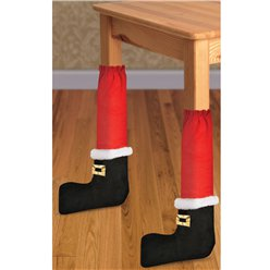 Santa Chair Leg Covers