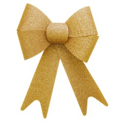 Extra Large Gold Glitter Bow - 38cm
