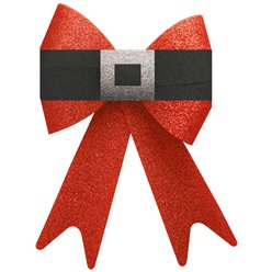 Extra Large Red Glitter Bow - 38cm