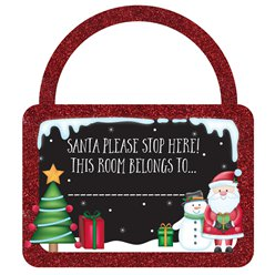 Message To Santa Door Hanger