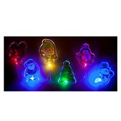 Christmas Printed Light Up Gel Window Stickers - 15 x 30cm