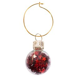 6 Mini Bauble Wine Charms
