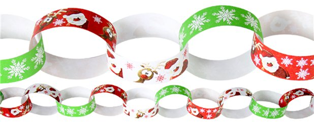 Christmas Paper Chains - 20cm