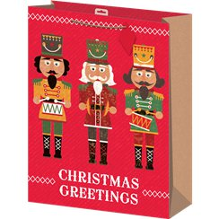 Extra Large Nutcracker Christmas Gift Bag - 45cm