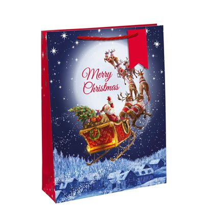Traditional Santa Gift Bag - Medium