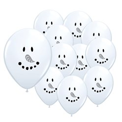 Smiley Face Snowman - 5'' Latex Mini Balloons