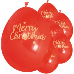 Merry Christmas Red Latex Balloons - 11""