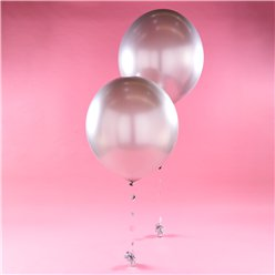 Silver Giant Balloon Kit