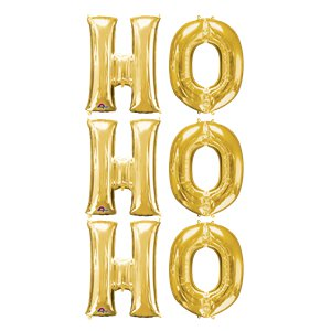 Ho Ho Ho Gold Balloon Kit