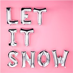 Let It Snow Silver Balloon Kit