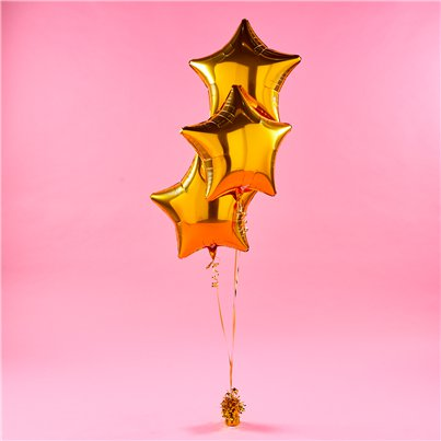 Gold Star Foil Balloon Kit
