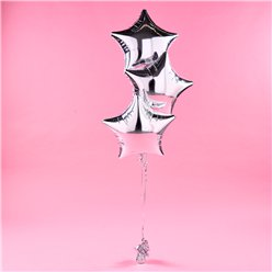 Silver Star Foil Balloon Kit