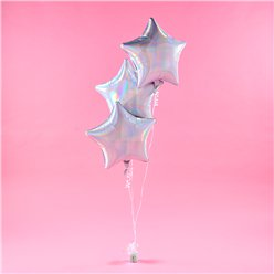 Iridescent Star Foil Balloon Kit