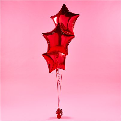 Metallic Red Star Foil Balloon Kit
