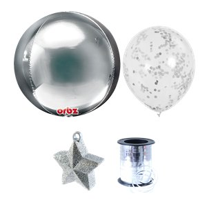 Silver Orbz Balloon Bunch Kit