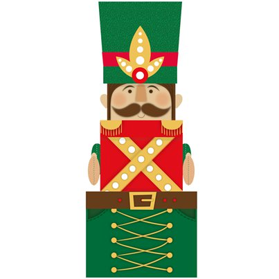 Nutcracker Extra Large Novelty Box with Plush - 52cm
