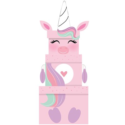 Unicorn Extra Large Novelty Box with Plush - 52cm