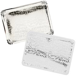 Silver Celebrate Paper Trays