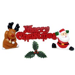 Cheerful Christmas Scene Decorating Kit