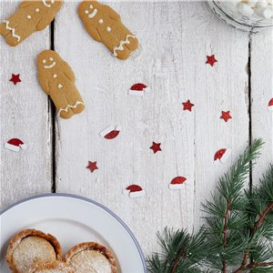 Red Glitter Christmas Table/Card Confetti