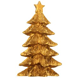 Gold Large Tree Resin Topper