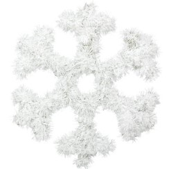 Snowflake Tinsel Decoration - 33cm