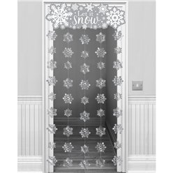 Let It Snow Door Curtain - 1.95m