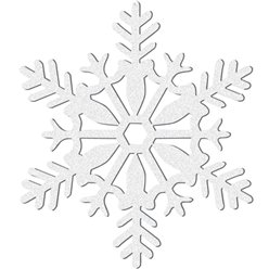White Snowflake Decoration - 28cm