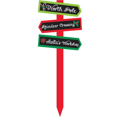 Christmas Wooden Arrow Garden Sign - 55cm