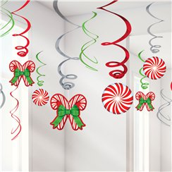 Candy Cane Pack of Swirls - 61cm