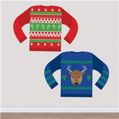 Christmas Jumper Cut Outs - 38cm