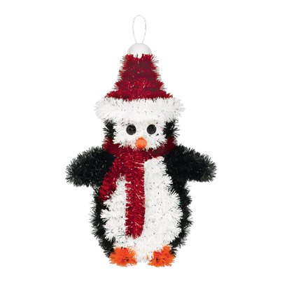 3D Penguin Tinsel Decoration -16cm