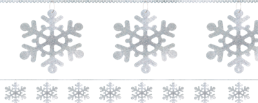 Snowflake Sequin Ring Garland - 2.74m