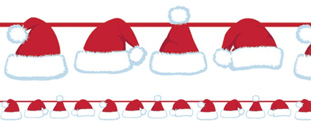 Santas Hat Ribbon Banner
